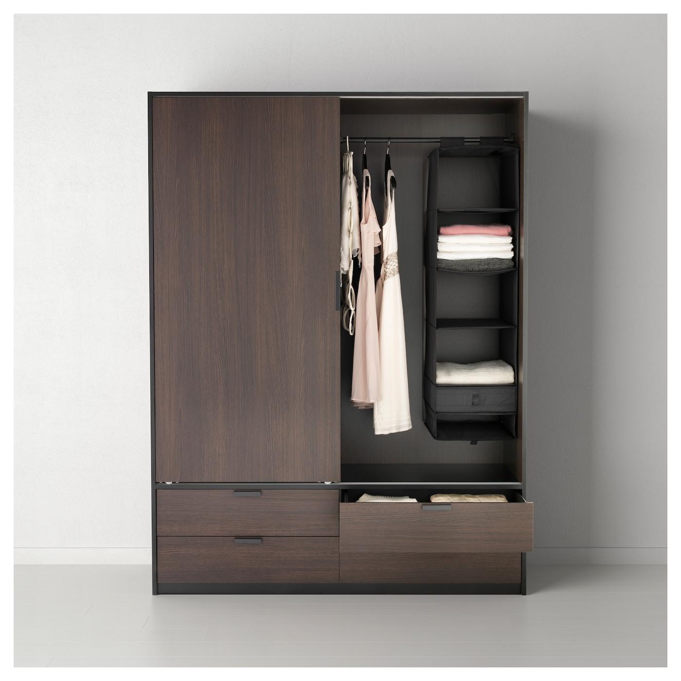 skubb storage with 6 compartments black 35x45x125 cm ikea. Black Bedroom Furniture Sets. Home Design Ideas