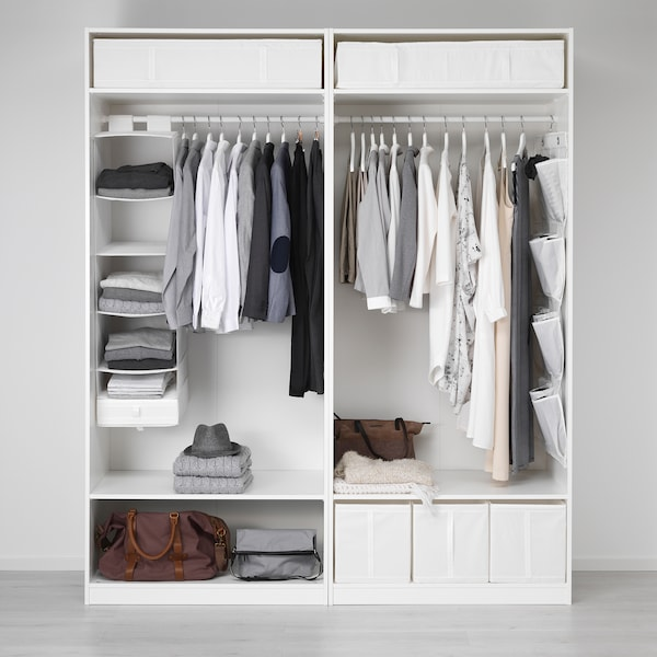 SKUBB Storage with 6 compartments, white, 35x45x125 cm