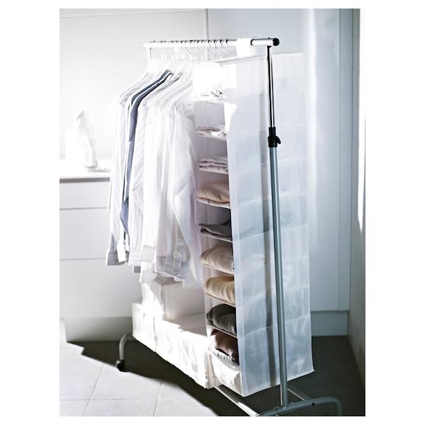 SKUBB storage with 9 compartments white 22 cm 34 cm 120 cm