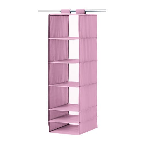 SKUBB Storage with 6 compartments IKEA The hook and loop fastener makes it easy to hang up and move.