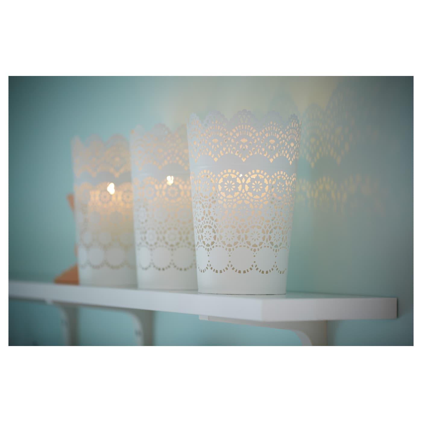 skurar lantern for block candle white 22 cm ikea. Black Bedroom Furniture Sets. Home Design Ideas