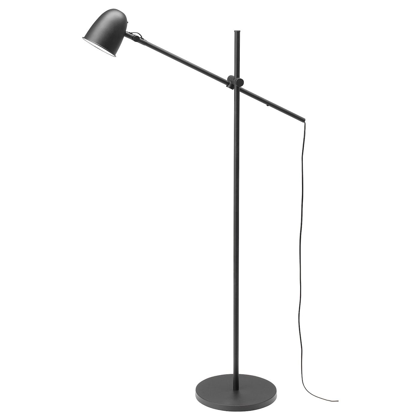 IKEA SKURUP floor/reading lamp Provides a directed light that is great for reading.
