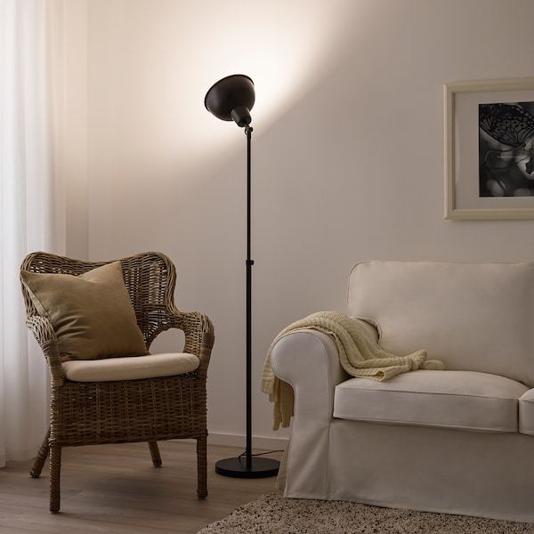 SKURUP floor uplighter black 13 W 118 cm 187 cm 28 cm 23 cm 2.0 m