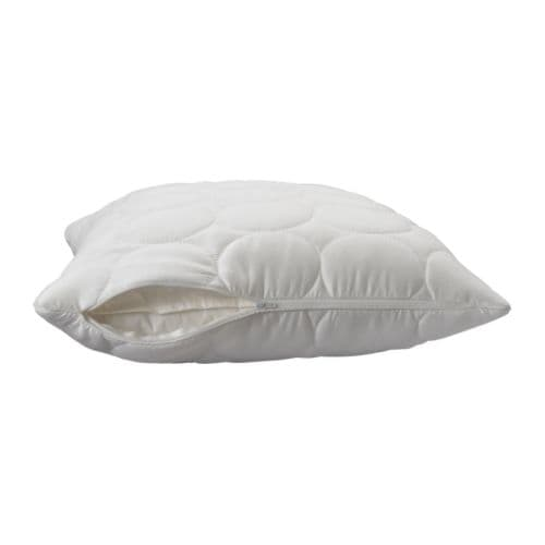 SKYDDA MJUK Pillow protector IKEA Protects the pillow from stains and dirt and prolongs its life.  Quick to remove, easy to wash.