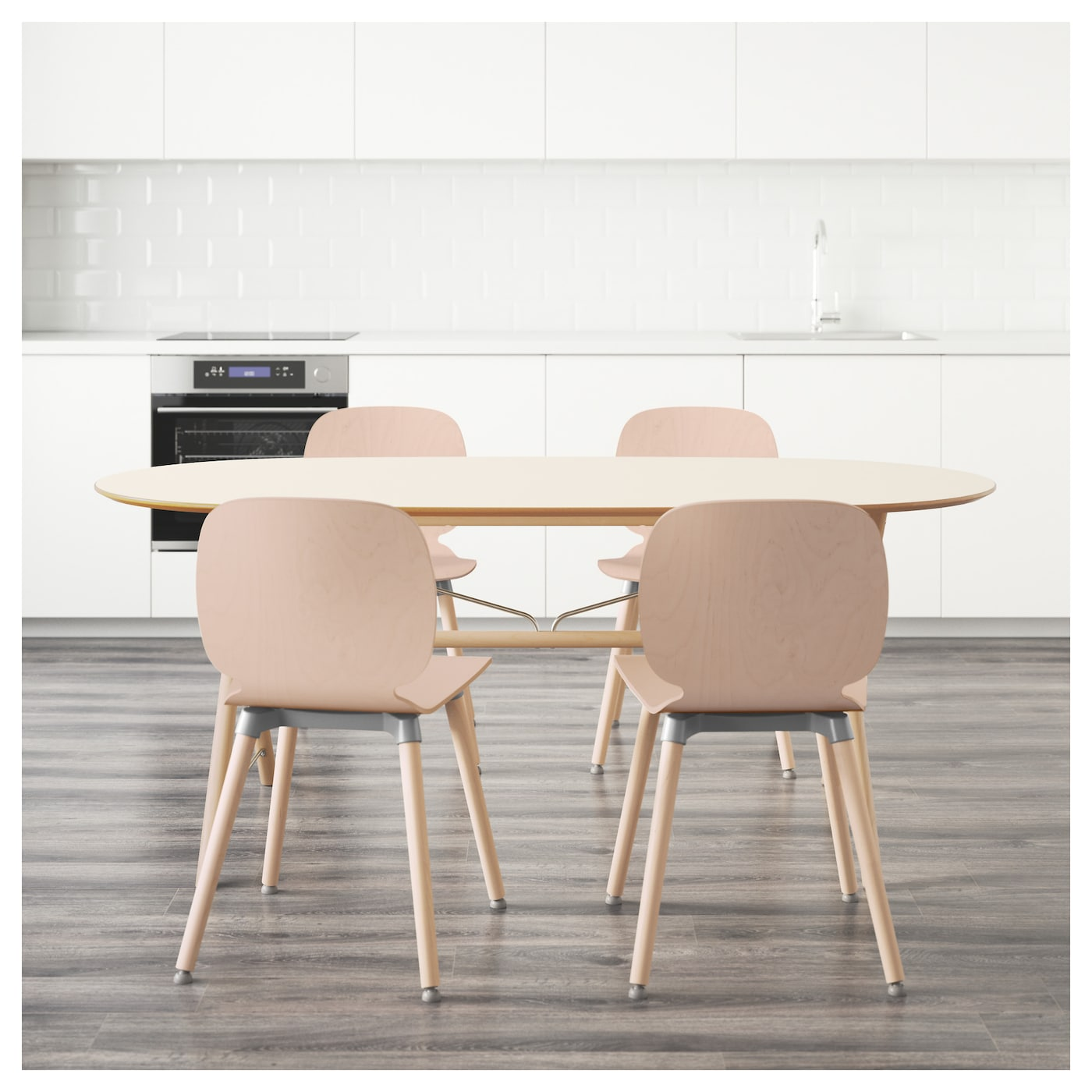 Sl hult dalshult svenbertil table and 4 chairs birch white - Ikea dining table with 4 chairs ...