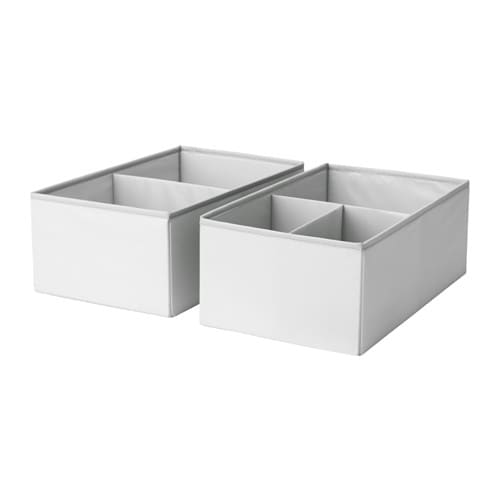 IKEA SLÄKTING box with compartments Can be folded to save space when not in use.