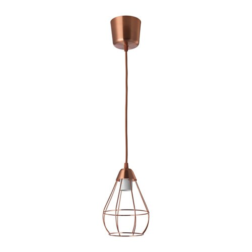 Kitchen Light Fittings Ikea: SLÄTTBO Pendant Lamp Copper-colour 14.5 Cm