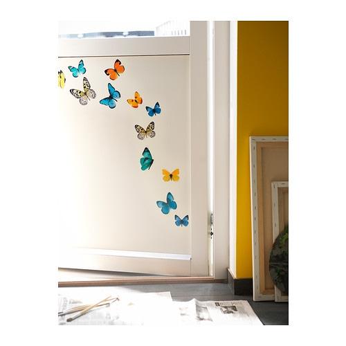 Slatthult decoration stickers butterflies ikea for Ikea wall decals