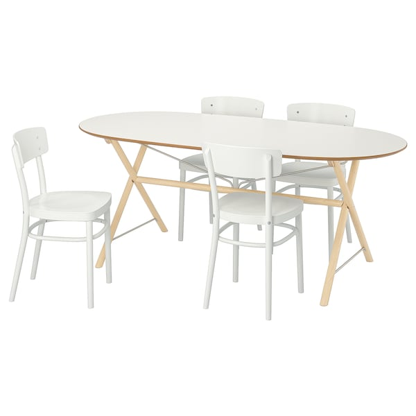 Miraculous Table And 4 Chairs Slahult Dalshult Idolf Birch White Alphanode Cool Chair Designs And Ideas Alphanodeonline