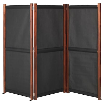 SLÄTTÖ privacy screen, outdoor black/brown stained 211 cm 170 cm