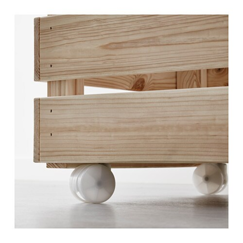 IKEA SLUGGER castor Ball bearing castors, making movement and cleaning easier.