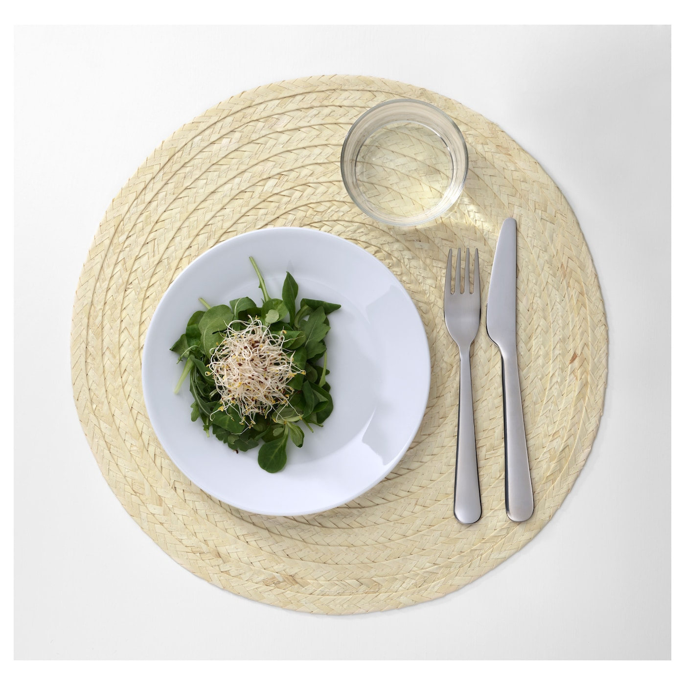 IKEA SLUTEN place mat Protects the table top surface and reduces noise from plates and cutlery.