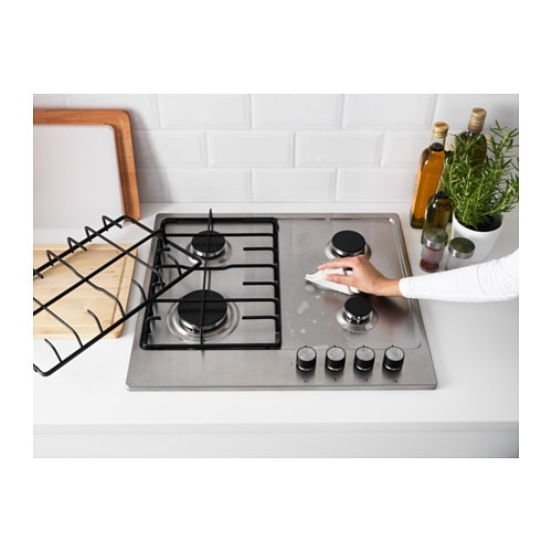 sm koka gas hob stainless steel ikea. Black Bedroom Furniture Sets. Home Design Ideas
