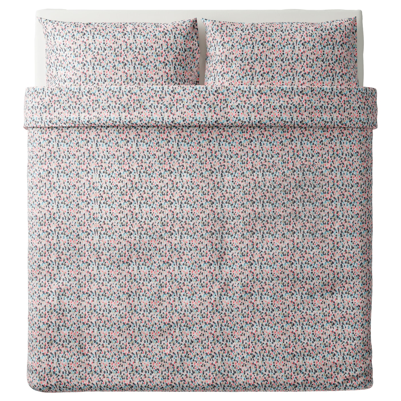 IKEA SMÅSTARR quilt cover and 2 pillowcases Pure cotton that feels soft and nice against your skin.