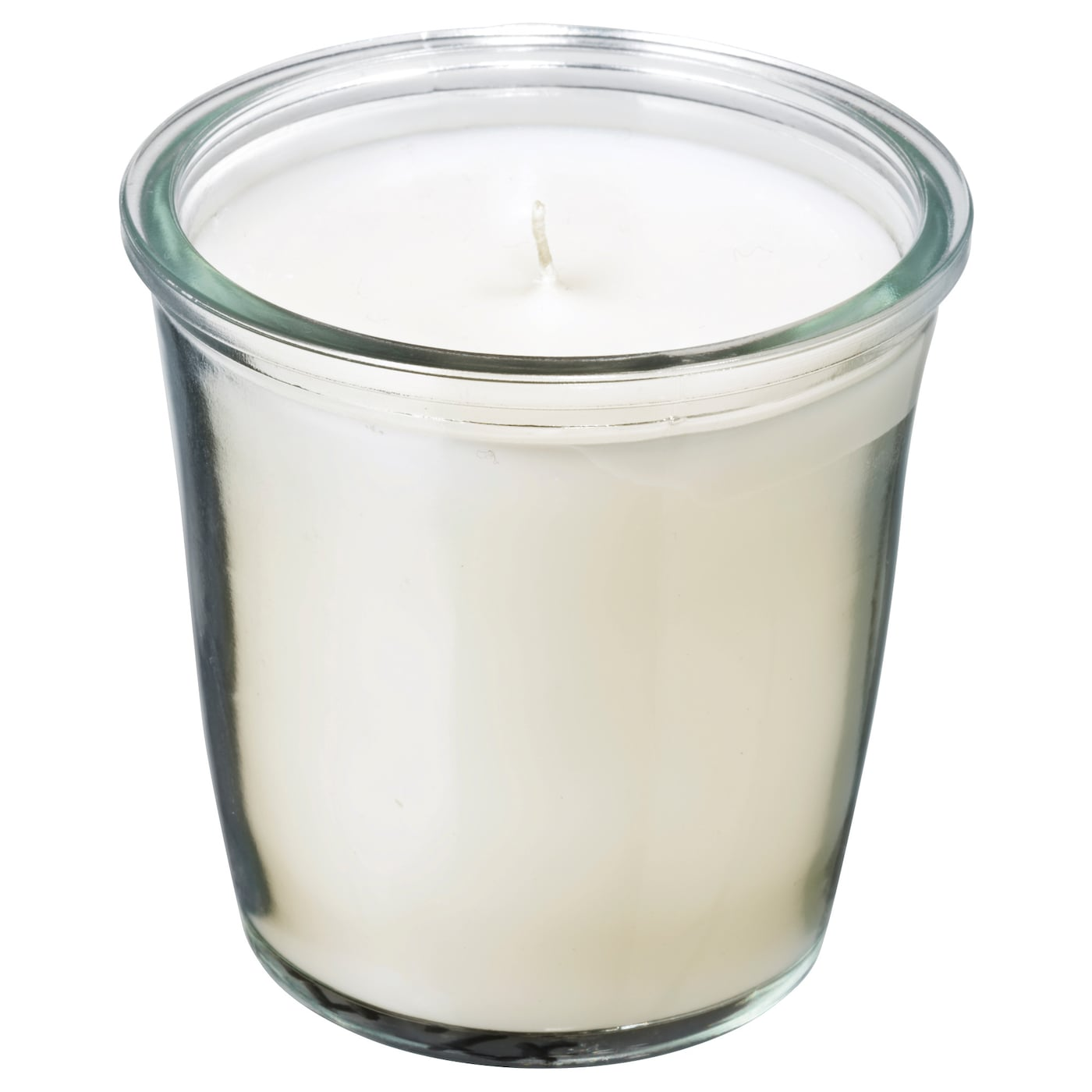 IKEA SMÅTREVLIG scented candle in glass Intense scent of vanilla with a hint of sea salt.