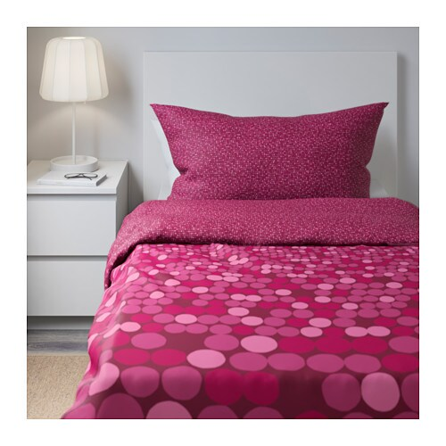 sm 214 rboll quilt cover and 2 pillowcases pink 150x200 50x80 cm ikea