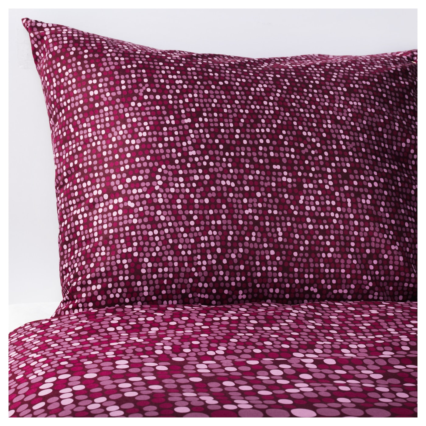 Sm rboll quilt cover and 4 pillowcases dark pink 240x220 for Ikea housses de couette