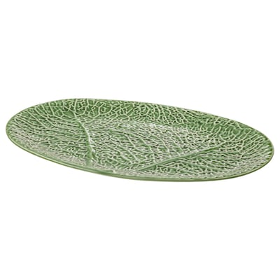 SMAKBIT serving plate green 37 cm 25 cm