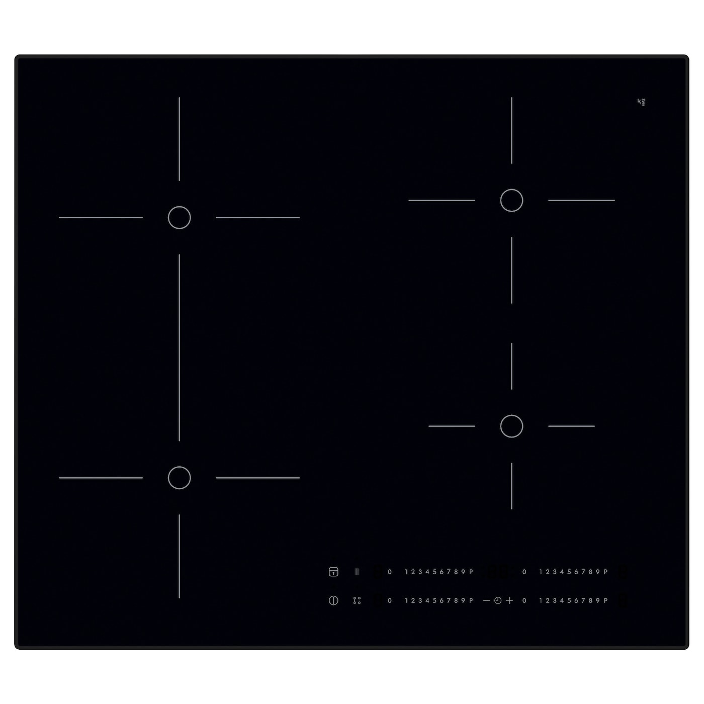 Smaklig Induction Hob Black 59 Cm Ikea Wiring Zones Kitchen 5 Year Guarantee Read About The Terms In Brochure