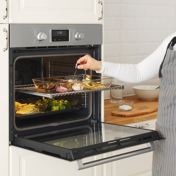 SMAKSAK Forced air oven w pyrolytic funct, stainless steel