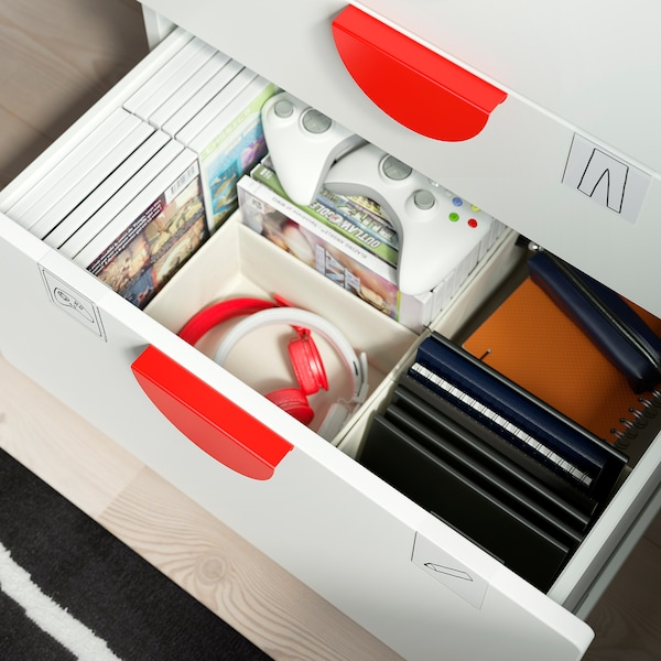 SMÅSTAD / PLATSA Chest of 3 drawers, white/white, 60x42x63 cm
