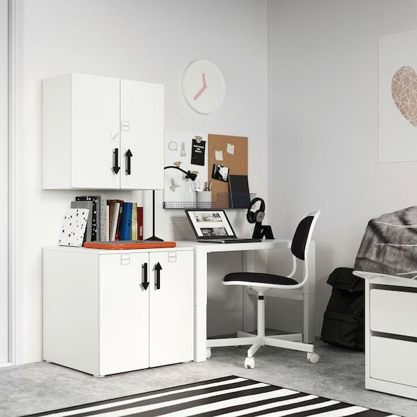 SMÅSTAD Wall cabinet, white white/with 1 shelf, 60x32x60 cm