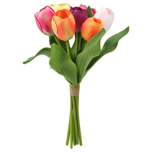 SMYCKA Artificial bouquet, in/outdoor Tulip, 32 cm