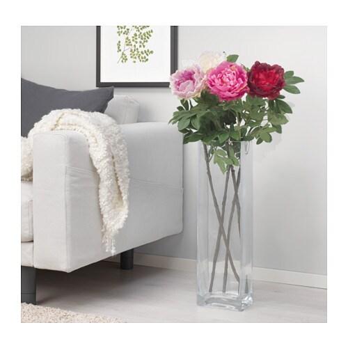 Smycka artificial flower peony white 100 cm ikea for Ikea fleurs artificielles