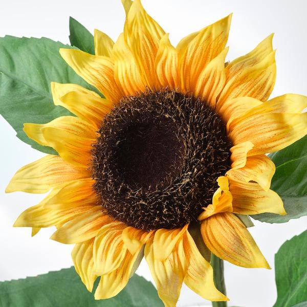 Flower Bed Maintenance Cost: SMYCKA Sunflower Yellow, Artificial Flower