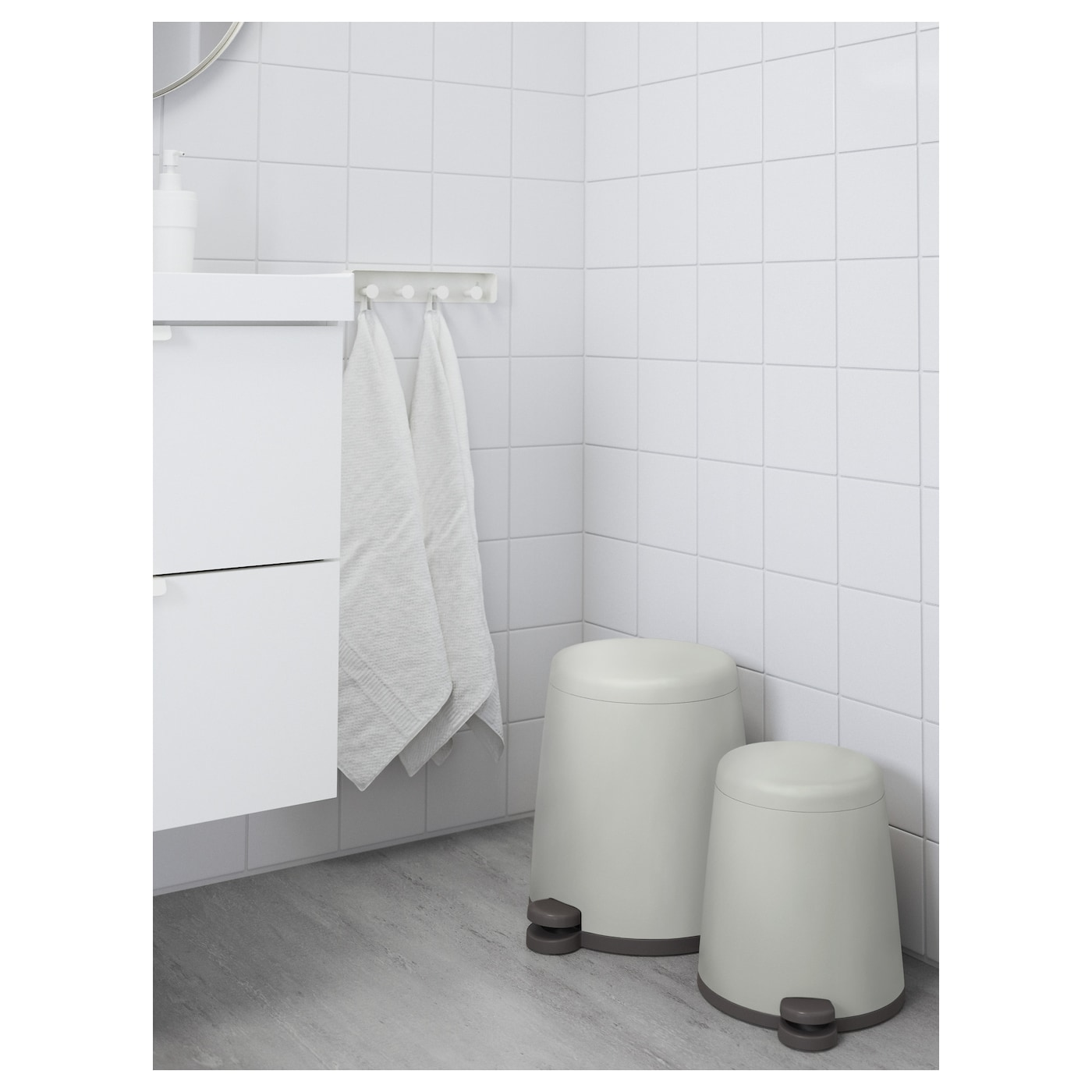 Ikea SnÄpp Pedal Bin The Is Easy To Move Since It Has A Handle On