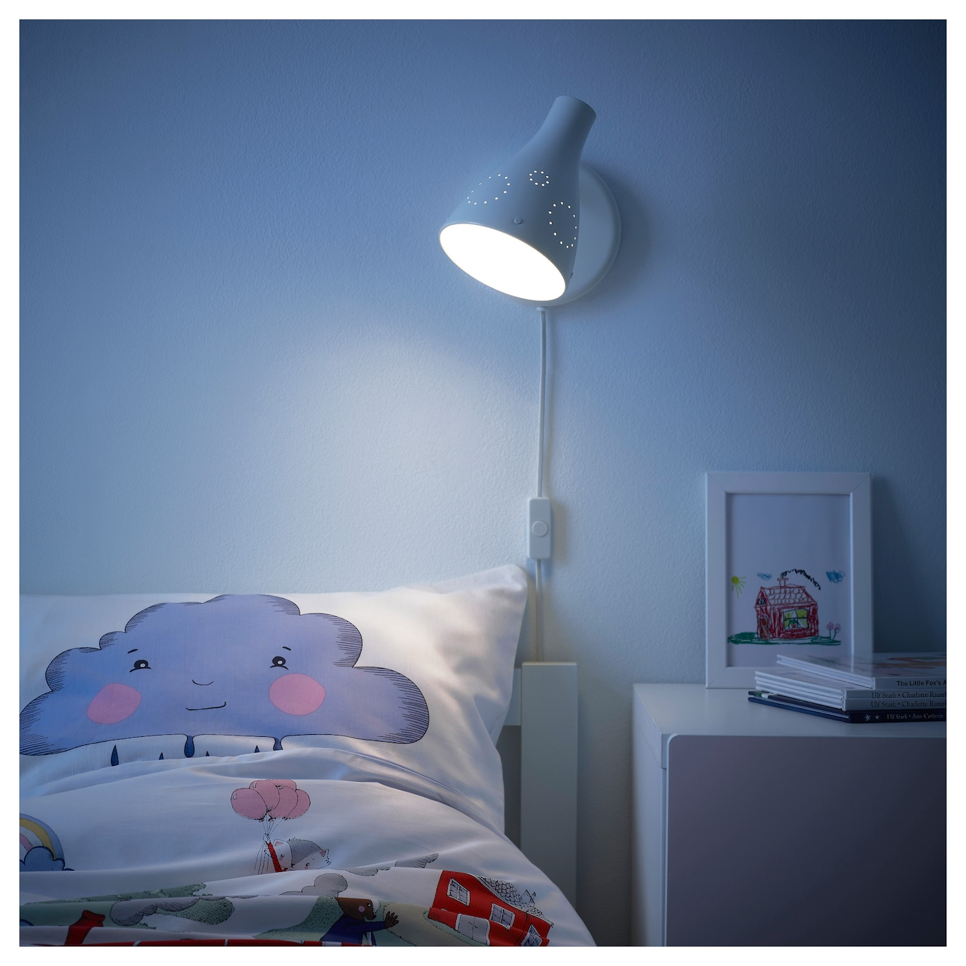 IKEA SNÖIG wall lamp Safety tested and tamper-proof to protect little fingers.