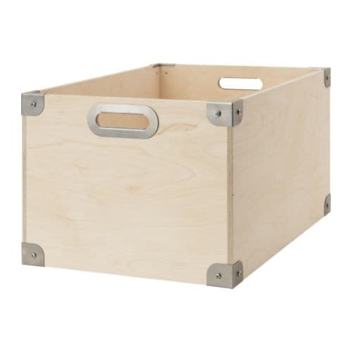 snack box plywood galvanised 56x37x30 cm ikea