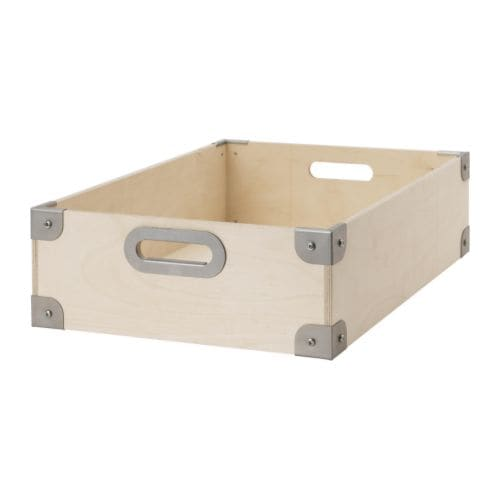 snack box plywood galvanised 37x27x12 cm ikea