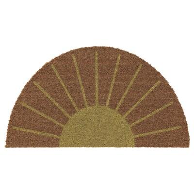 SNÄBUM Door mat, indoor, sun/yellow, 40x60 cm