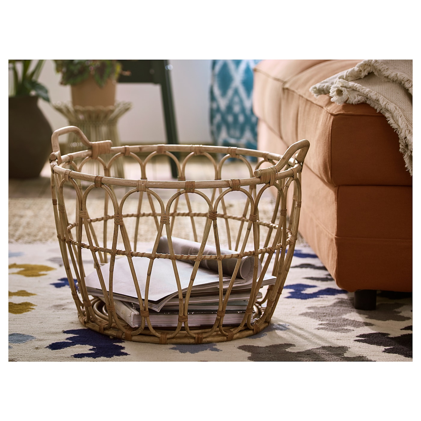 IKEA SNIDAD basket This braided basket has a unique look since each basket is handmade.