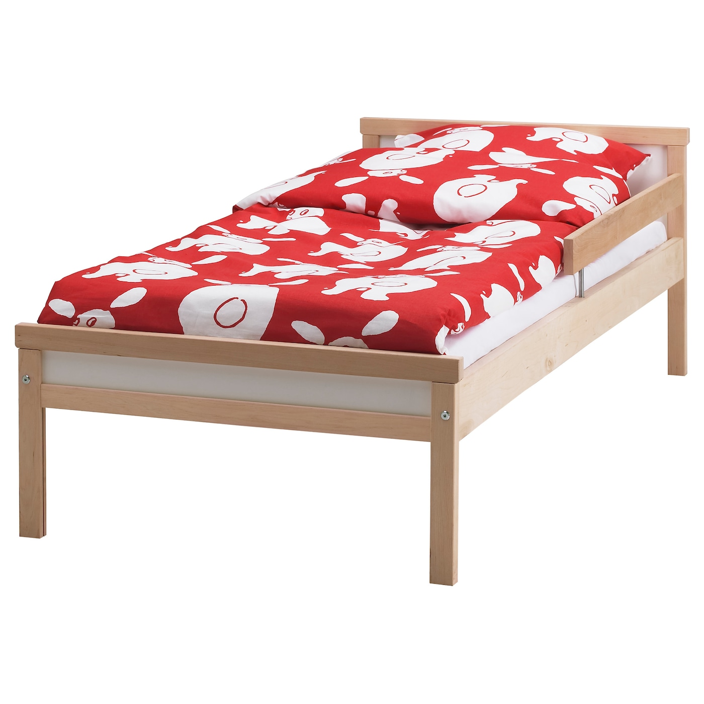 ikea childrens beds sniglar bed frame with slatted bed base beech 70x160 cm ikea 30202