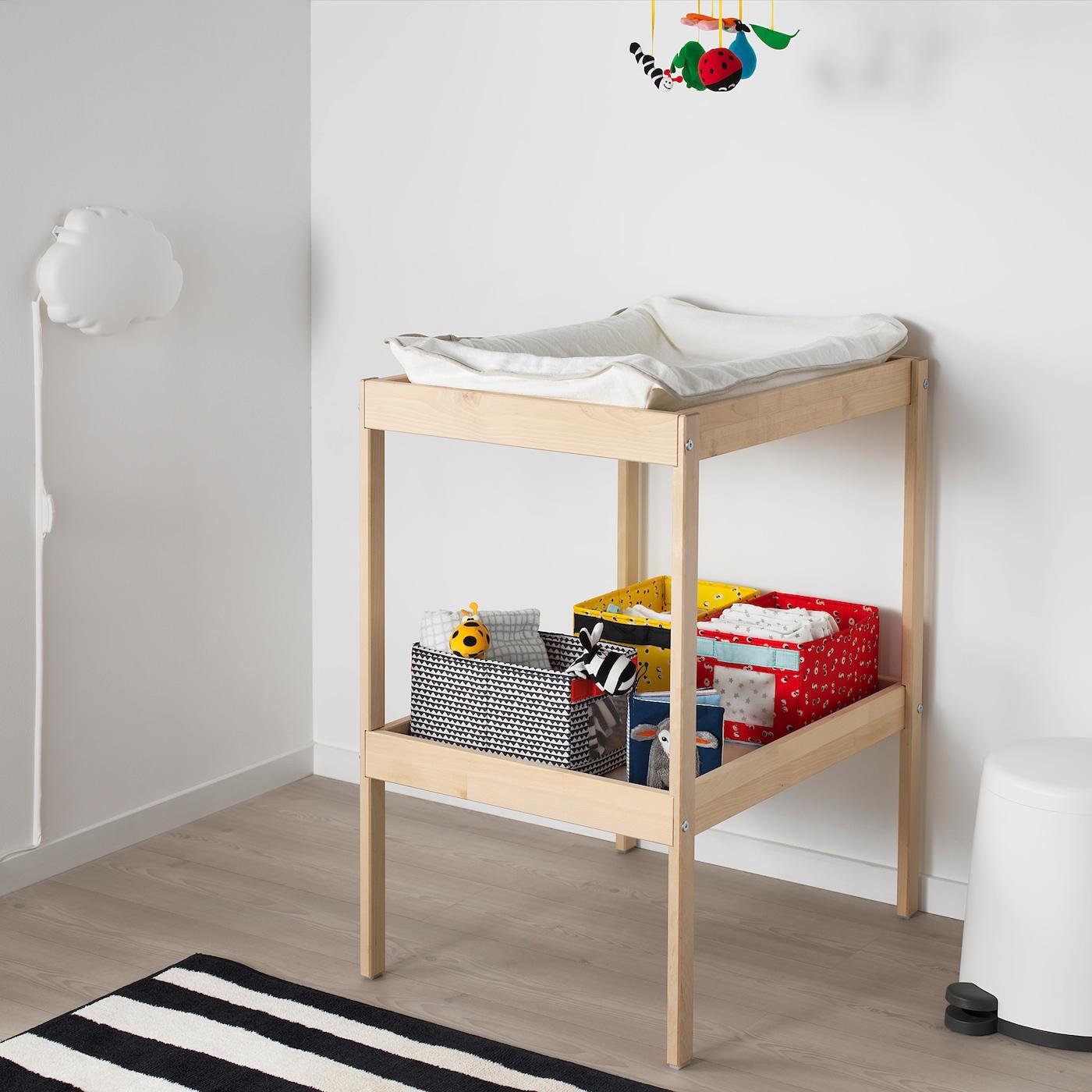 Sniglar Beech White Changing Table 72x53 Cm Ikea
