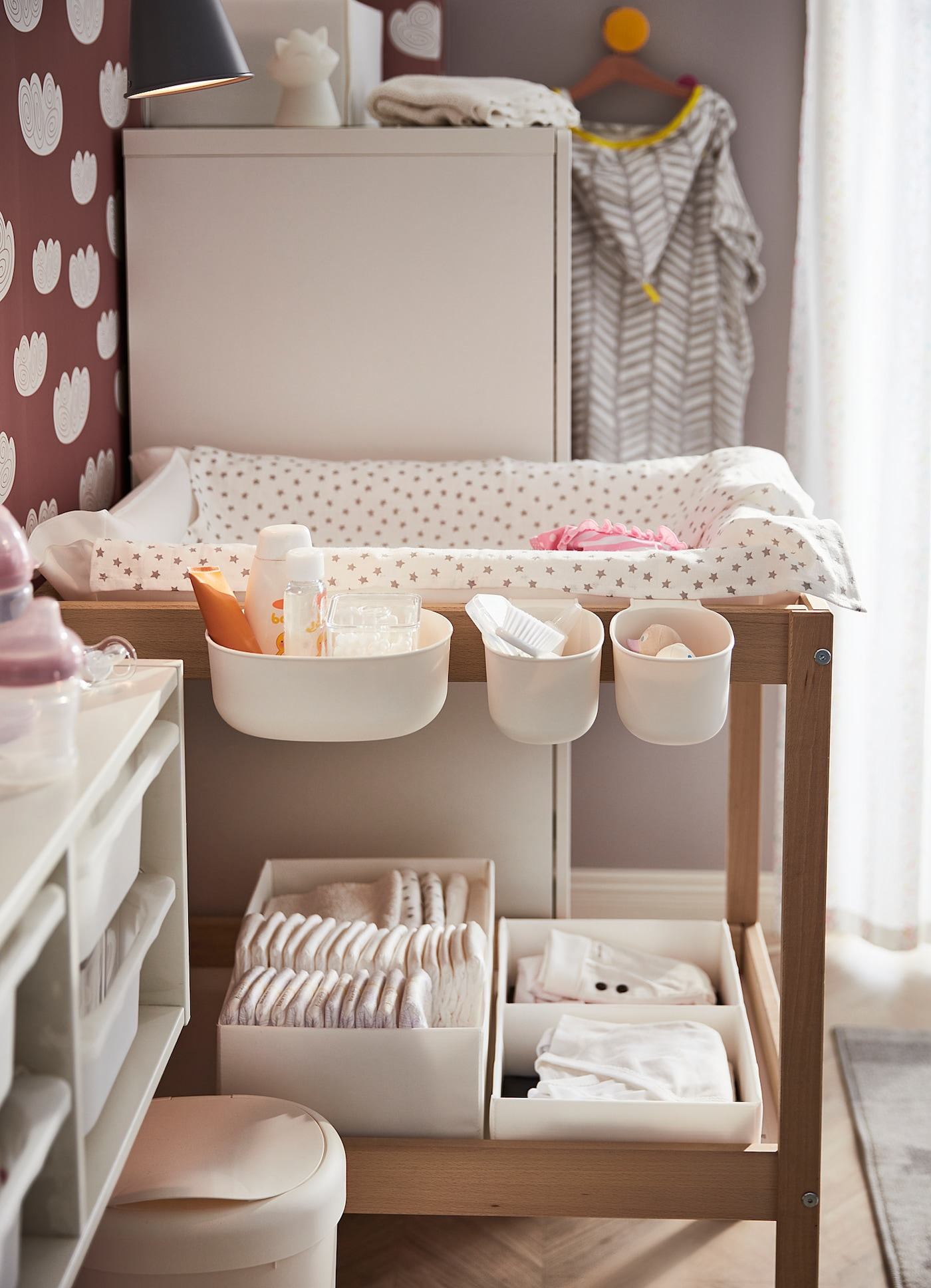 Picture of: Sniglar Beech White Changing Table 72×53 Cm Ikea