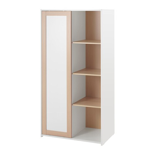 Sniglar wardrobe beech white 81x50x163 cm ikea - White armoire ikea ...