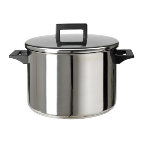 Snitsig Pot With Lid Stainless Steel 8 5 L Ikea