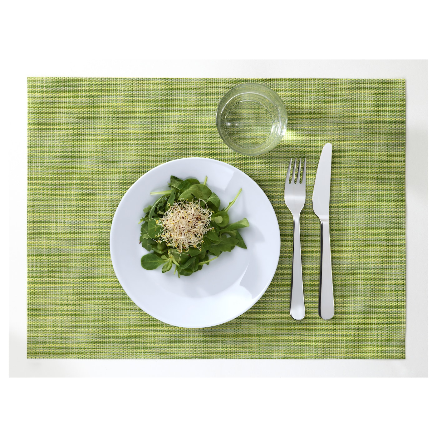 IKEA SNOBBIG place mat Protects the table top surface and reduces noise from plates and cutlery.