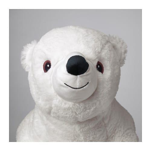 Ikea Snuttig Soft Toy Big Polar Bear 60 Cm Birthday Gift