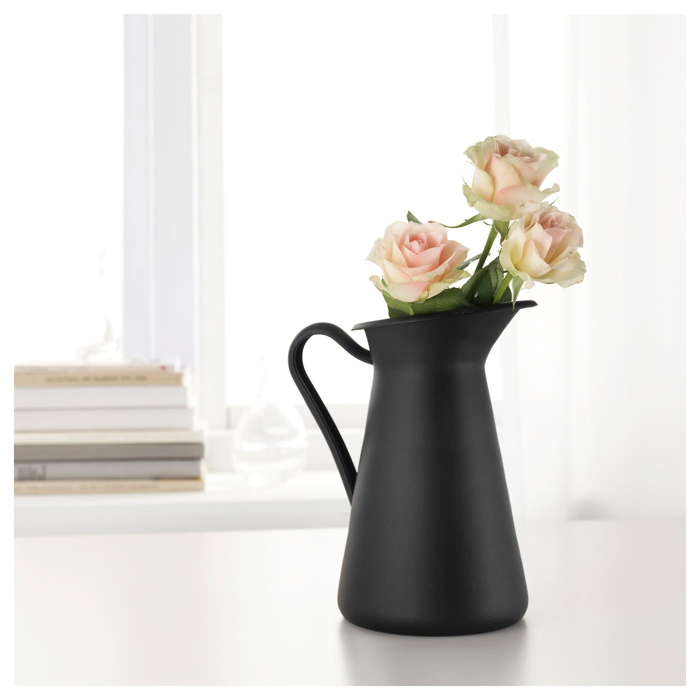 socker rt vase black 22 cm ikea. Black Bedroom Furniture Sets. Home Design Ideas