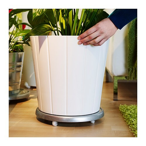 IKEA SOCKER plant mover The plant pot is galvanised to protect against corrosion.