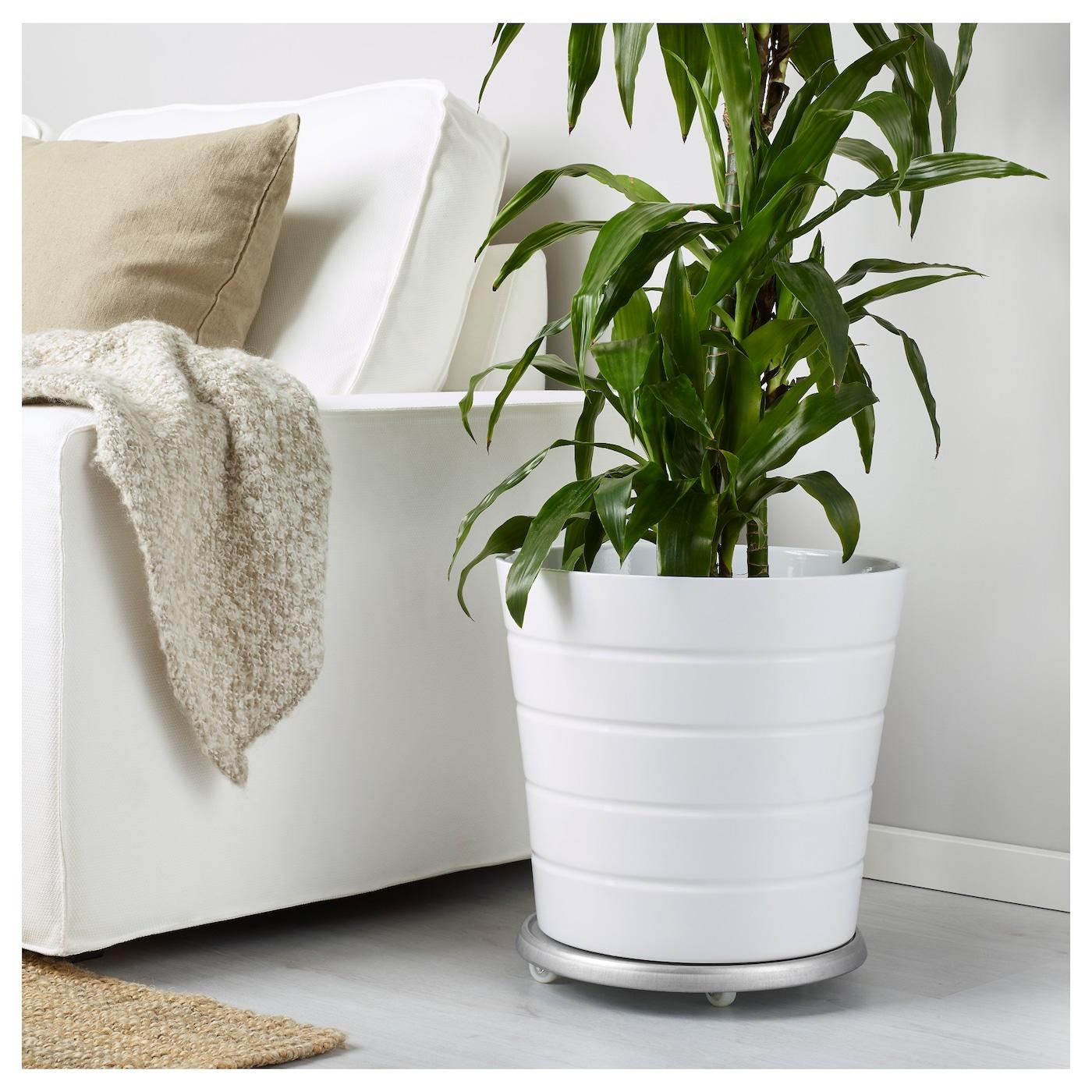 Socker plant mover in outdoor galvanised 31 cm ikea for Ikea maceteros exterior