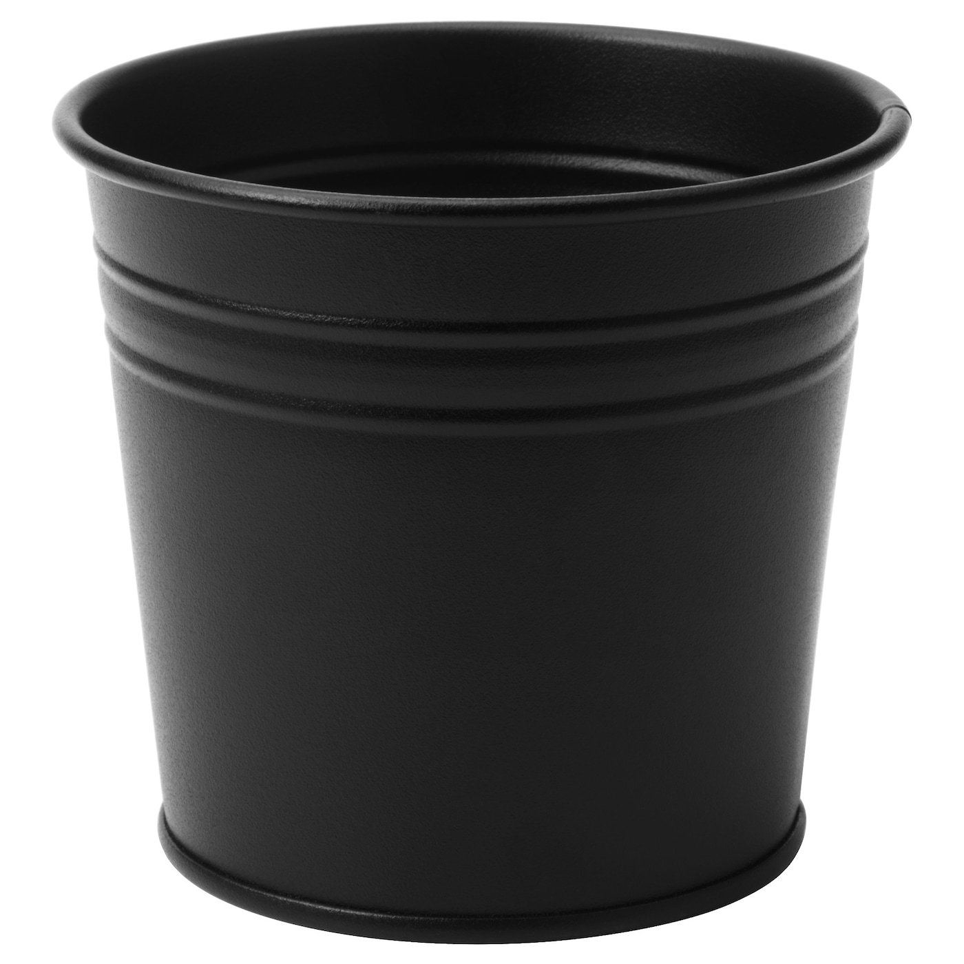 Socker plant pot in outdoor black 9 cm ikea for Black planters ikea