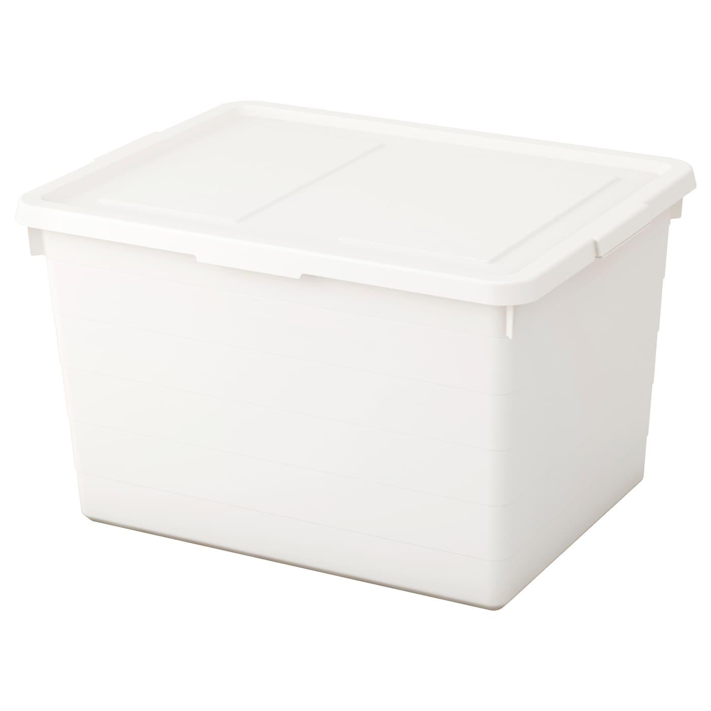 sockerbit box with lid white 38 x 51 x 30 cm ikea. Black Bedroom Furniture Sets. Home Design Ideas