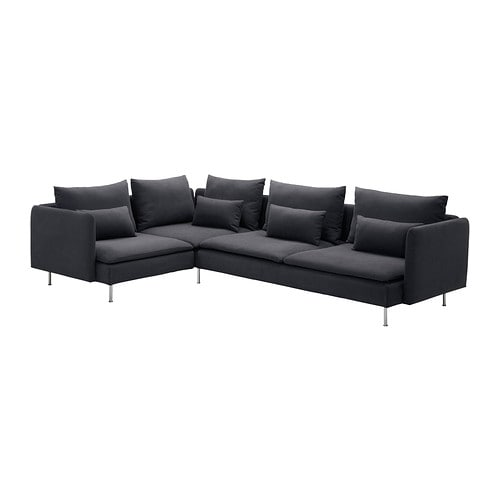 s derhamn corner sofa samsta dark grey ikea. Black Bedroom Furniture Sets. Home Design Ideas
