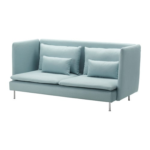 SÖDERHAMN Cover three-seat sofa, high back IKEA Heavy, highly durable fabric with texture, a slight lustre and a soft feel.