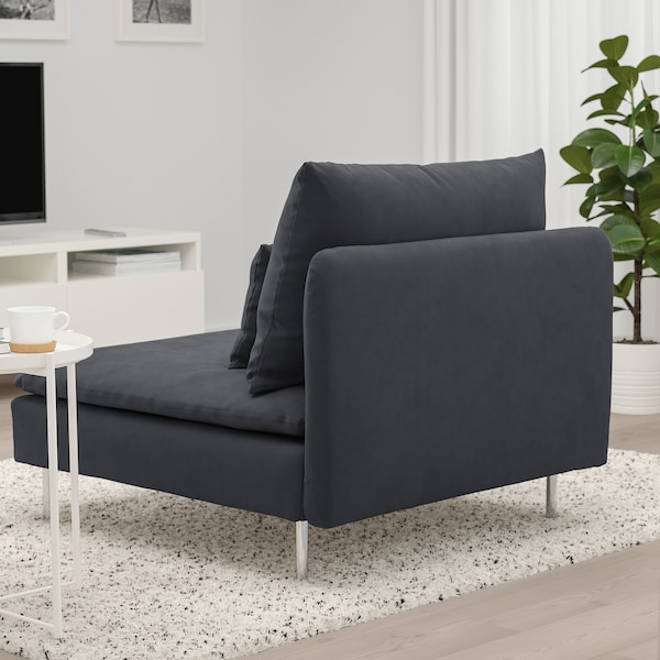 SÖDERHAMN 1-seat section, Samsta dark grey